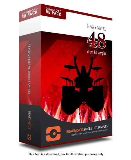 Heavy Metal Drum Samples v1 - Single hit drum samples